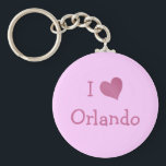"""I Love Orlando Keychain<br><div class=""""desc"""">&quot;I Love Orlando&quot; heart design on great gift ideas. Cute present for your sweetie.    Zazzle.com.</div>"""