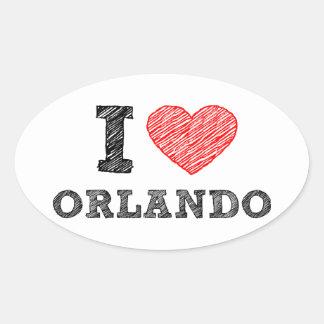I-Love-Orlando Oval Sticker