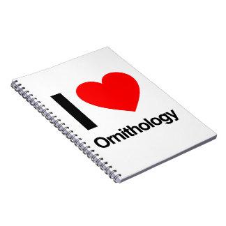 i love ornithology note books