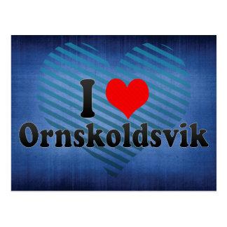 I Love Ornskoldsvik, Sweden Postcard