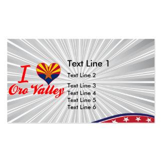 I Love Oro Valley, Arizona Business Card Templates