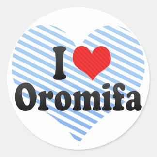 I Love Oromifa Classic Round Sticker