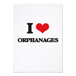 I Love Orphanages 5x7 Paper Invitation Card