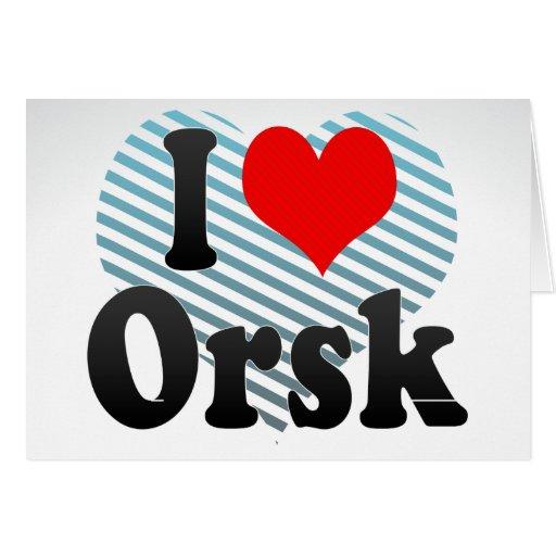 I Love Orsk, Russia. Ya Lyublyu Orsk, Russia Card