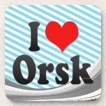 I Love Orsk, Russia. Ya Lyublyu Orsk, Russia Beverage Coaster