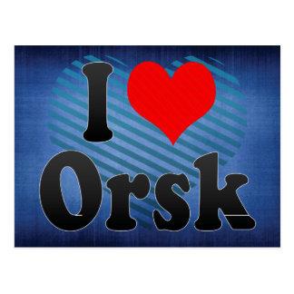 I Love Orsk, Russia. Ya Lyublyu Orsk, Russia Postcard