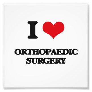 I Love Orthopaedic Surgery Photo Print