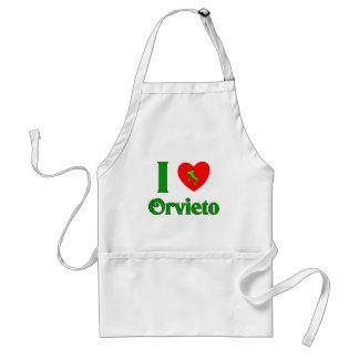I Love Orvieto Italy Adult Apron