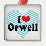 I Love Orwell Christmas Ornaments