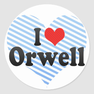 I Love Orwell Classic Round Sticker