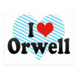 I Love Orwell Post Card