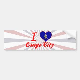 I Love Osage City, Kansas Bumper Stickers
