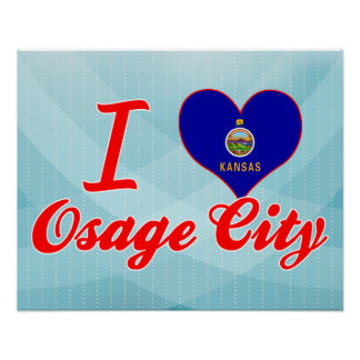 I Love Osage City, Kansas Poster