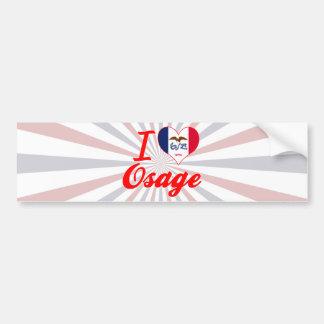 I Love Osage, Iowa Bumper Sticker