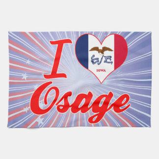 I Love Osage Iowa Hand Towels