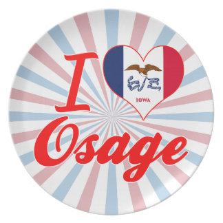 I Love Osage Iowa Dinner Plates