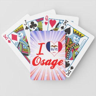 I Love Osage Iowa Poker Deck