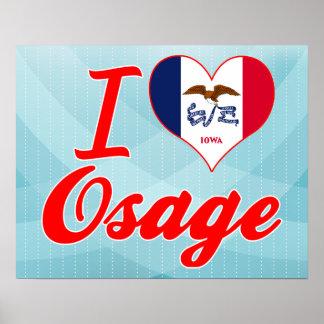 I Love Osage, Iowa Print