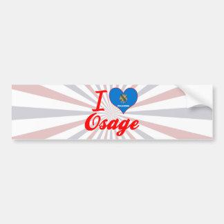I Love Osage, Oklahoma Bumper Sticker