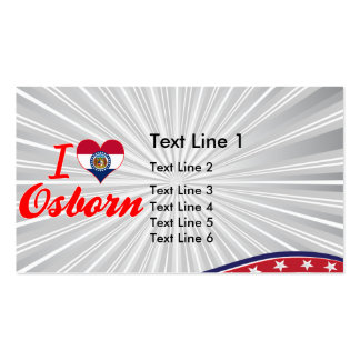I Love Osborn, Missouri Business Card Templates