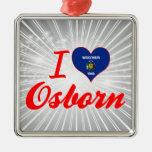 I Love Osborn, Wisconsin Christmas Tree Ornaments