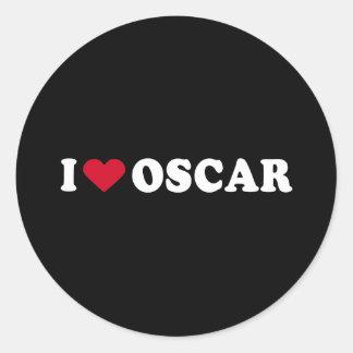 I LOVE OSCAR CLASSIC ROUND STICKER