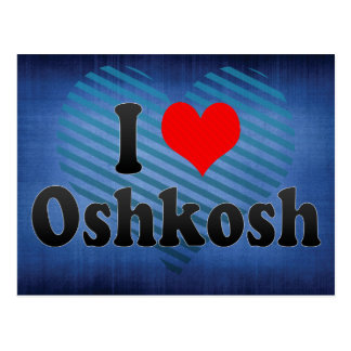 I Love Oshkosh, United States Postcard