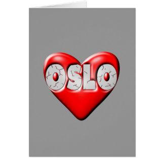 I Love Oslo Norway Card