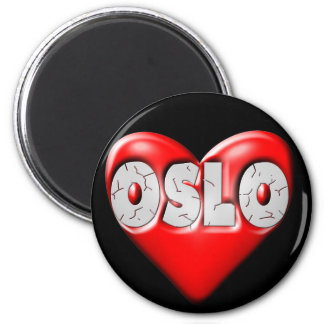 I Love Oslo Norway Magnet