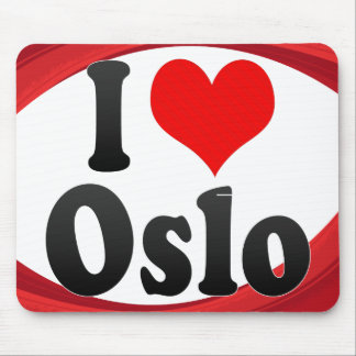 I Love Oslo, Norway Mouse Pad