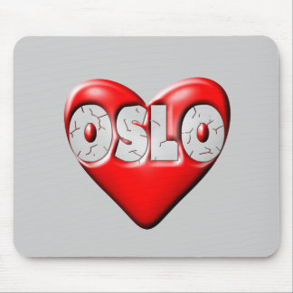 I Love Oslo Norway Mouse Pad