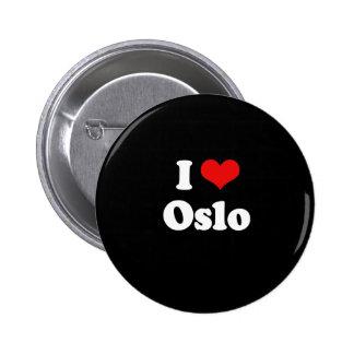 I LOVE OSLO PINBACK BUTTON