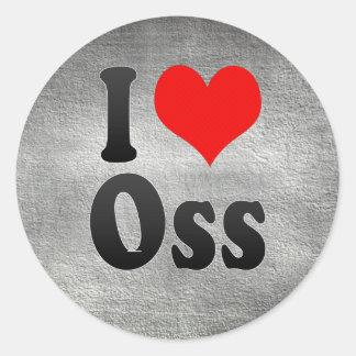 I Love Oss, Netherlands Classic Round Sticker