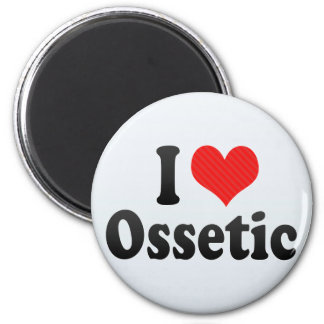 I Love Ossetic 2 Inch Round Magnet