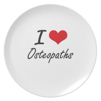 I love Osteopaths Party Plate
