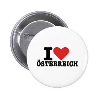 I love Österreich - Austria Button