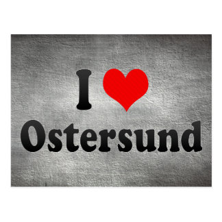 I Love Ostersund, Sweden Postcard