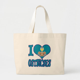 I Love ostriches Bags