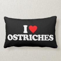 I LOVE OSTRICHES LUMBAR PILLOW