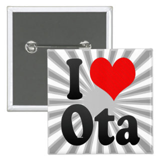 I Love Ota, Japan. Aisuru Ota, Japan Buttons