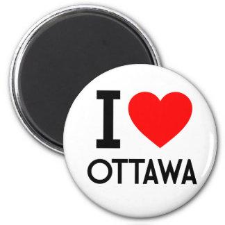 I Love Ottawa 2 Inch Round Magnet