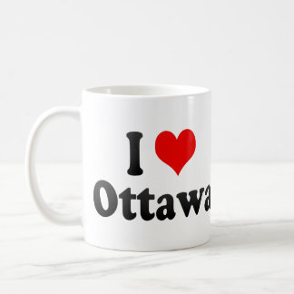 I Love Ottawa, Canada Coffee Mug