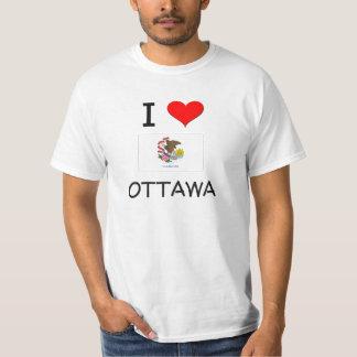 I Love OTTAWA Illinois T-Shirt