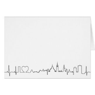 I love Ottawa in an extraordinary ecg style Card