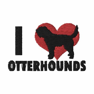 I Love Otterhounds Embroidered T-Shirt