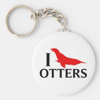 I Love Otters, I Love Sea Lions Keychain