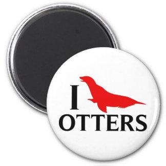 I Love Otters, I Love Sea Lions Magnet