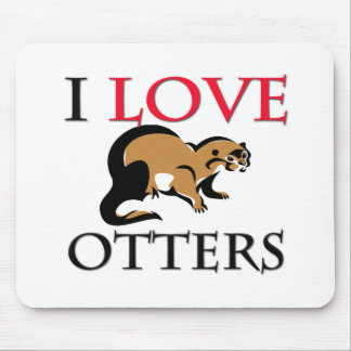I Love Otters Mouse Mat
