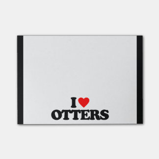 I LOVE OTTERS POST-IT® NOTES