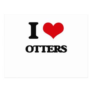 I Love Otters Postcard